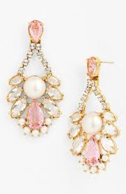 Pink Chandelier Earrings Images Accessory And Fashion Style Pinterest