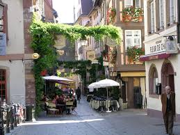 street cafe in strasbourg france wallpapers and images