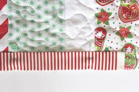 stripe christmas table runner tutorial sew delicious