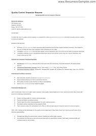 sample resume for quality control u2013 topshoppingnetwork com