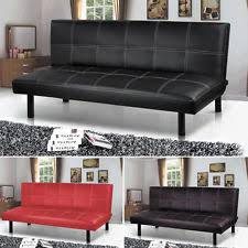 Black Leather Sofa Bed Leather Sofa Beds Ebay