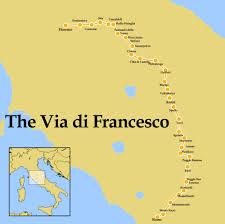 Assisi Italy Map by The Via Di Francesco U2013 Pilgrim Paths