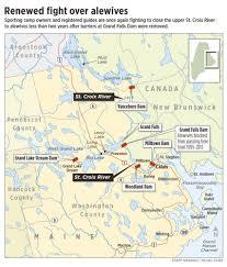 St Croix Map Battle Revived Over Alewives In St Croix River Centralmaine Com