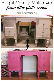 Bright Furniture Colors Custom Pink Chalk Paint Vanity In The Garage