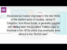 what is the history of hockey
