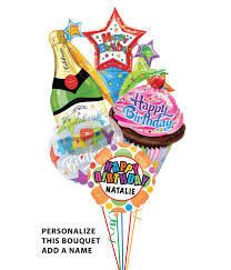 mylar balloon bouquet personalized bubbles sweet treats balloon bouquet 5 balloons