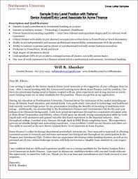 cover letter examples for entry level positions cover letter