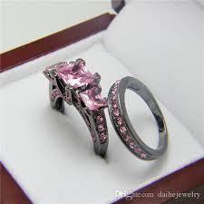 pink crystal rings images Black gold filled rings turquoise o jewelry tungsten rings pink jpg