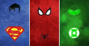 minimalist superhero illustrations in vibrant colors by calvin lin