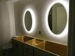 backlit bathroom vanity mirror light up bathroom mirrors led lights behind bathroom mirror lighted