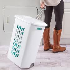 sterilite wheeled laundry hamper sterilite ultra wheeled hamper walmart com