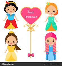 imagenes kawai de chicas lindas princesas en coloridos vestidos en estilo kawaii chicas en