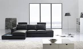 Black Leather Sectional Sofas Mini Black Leather Leather Match Modern Sectional Sofa