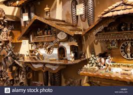 shop in shop interior traditional german coo coo clocks bavarian woodwork in shop in