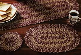vhc brands 9493 burgundy and tan oval braided rugs at
