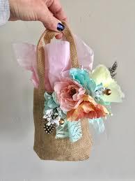 4 piece burlap gift bags tea pary wedding baby shower bridal
