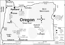 oregon map quiz printout enchantedlearning