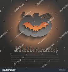 vector halloween pumpkin bat dark paper stock vector 152662586