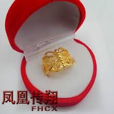 bridal gold rings butterfly women rings gold plated ring models wedding