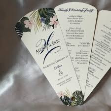fan wedding program template best wedding program petal fan tropical pics for trend and
