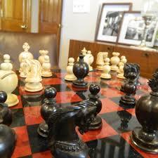 heirloom executive baron ebonized staunton chess set