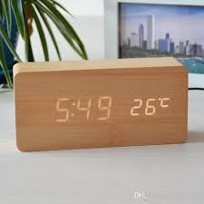 creative wood led clock creative wood clock led temperature display led wood