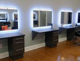 salon mirrors with lights s boutiques speho illuminated mirrors