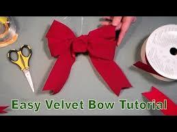 velvet bows how to tie a velvet bow