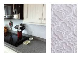Installing Faux Tin Backsplash  Home Design And Decor - White tin backsplash