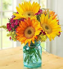 jar flower arrangements flowers warm sunset bouquet free banner with blue jar