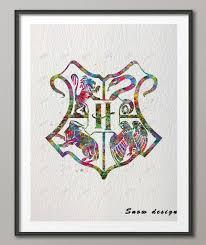 Aliexpresscom  Buy Original Watercolor Hogwarts Wall Art Canvas - Prints for kids rooms