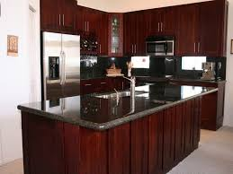 wood stain kitchen cabinets modern cherry kitchen cabinets trellischicago