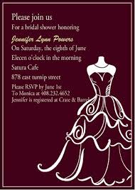 bridal shower invitation wording chic wedding dress templates bridal shower invitation ewbs007 as