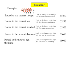 rounding integer numbers rounding to the nearest whole number ppt
