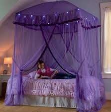 bed canopy with lights hearthsong sparkling lights bed canopy reviews wayfair
