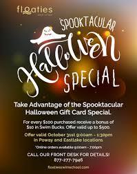 halloween gift card floaties halloween spooktacular deal