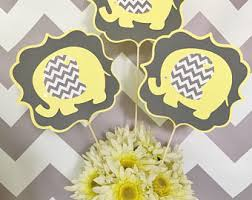 yellow and gray baby shower decorations elephant baby shower centerpiece in blue and gray elephant