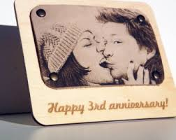 3rd wedding anniversary gift ideas leather anniversary etsy