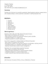 Chemistry Resume Example by Fashionable Lab Tech Resume 9 Lab Technician Resume Template