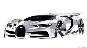 2017 bugatti chiron design sketch hd wallpaper 72