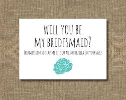 Ask Bridesmaids Cards Ask Bridesmaid Funny Will You Be My Bridesmaid Cards Will