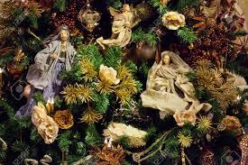 decoration on the tree newborn jesus with stock