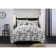 Minecraft Comforter Set Black White Metro Block Comforter Set Queen Dark Black Blue Grey