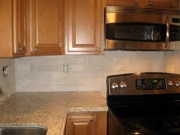 White Subway Tile Kitchen Backsplash by Delectable White Color Subway Tile Kitchen Backsplash With Cream