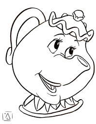 Mrs Potts Coloring Page mrs potts coloring page go digital with us 56591a20363a