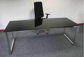 bureau noir verre bureau de direction en verre noir cristal achat bureaux de
