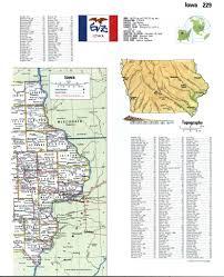 Iowa State Map Iowa Topographic Mapfree Maps Of North America