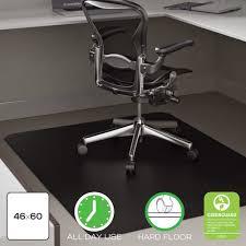 Chair Mat For Hard Floors Deflect O Cm21242blk Classic Black Hard Floor Chairmat Hard Floor