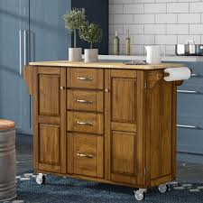 kitchen island with butcher block top adelle a cart kitchen island with butcher block top reviews