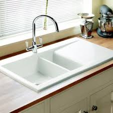 White Sink Looks Stunning Home Kitchen Drying Pinterest - Ceramic kitchen sinks uk